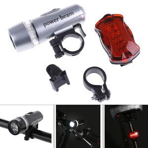 Waterproof-5-Led-Lamp-Bike-Bicycle-Front-Head-Light-Rear-Safety-Flashlight-Set-D