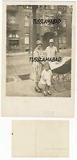 Berlin  1927 Straße alte Häuser Fassade Familie Kinderwagen Postkarte