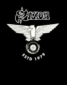 SAXON-cd-cvr-Wheels-of-Steel-ESTABLISHED-ESTD-1979-Official-SHIRT-New-M-L-XL
