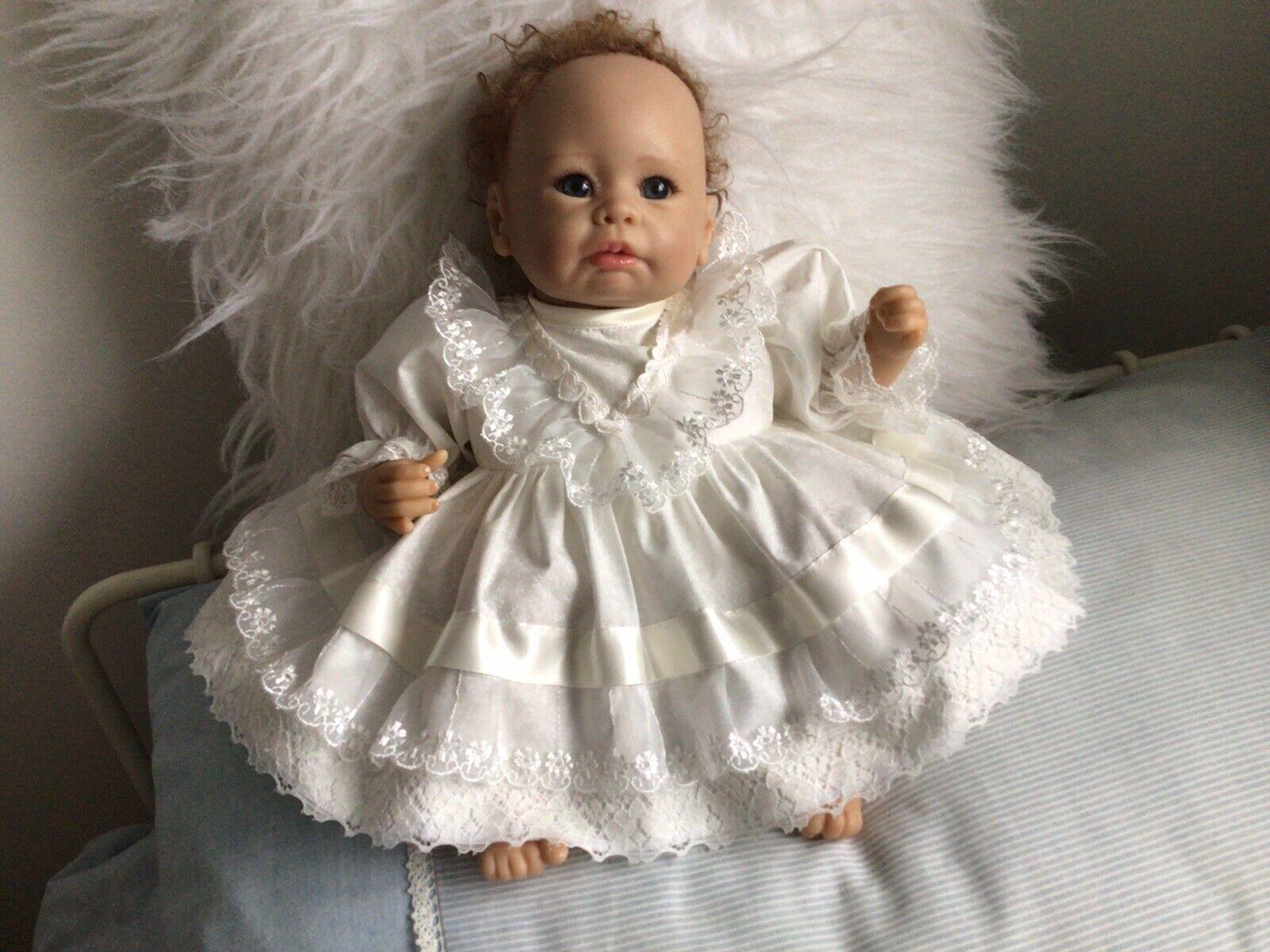 "CLOTHES New Born Baby /REBORN 16"" Two piece set.IvoryNew"
