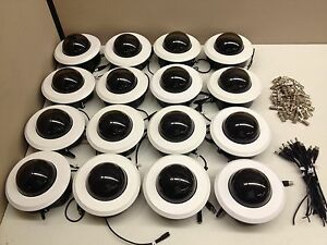 LOT of 16 Wren Mini Dome 12V DC CCTV Camera w// 3.5-8mm Lens BNC Ceiling White