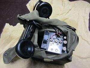 Telephone-de-campagne-US-EE8-1943-complet-avec-housse