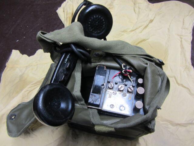 Téléphone de campagne US EE8 1943 complet avec housse