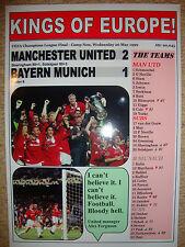 Manchester United 2 Bayern Munich 1 - 1999 Champions League - souvenir print
