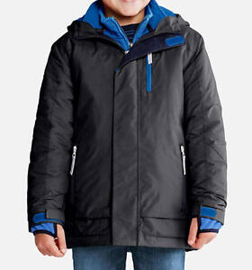 9a1f566ef LANDS  END Boy s 2T Black Stormer 3-in-1 Systems Parka or Coat NWT ...
