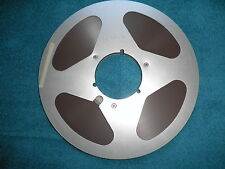 """Quantegy 632 Audio tape on 10 1/2"""" used  metal reel with NAB center hub!!!!!"""