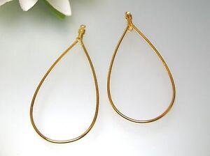 18K Yellow white Gold Hook Earring Setting /& Pin Finding DIY Dangle Earring