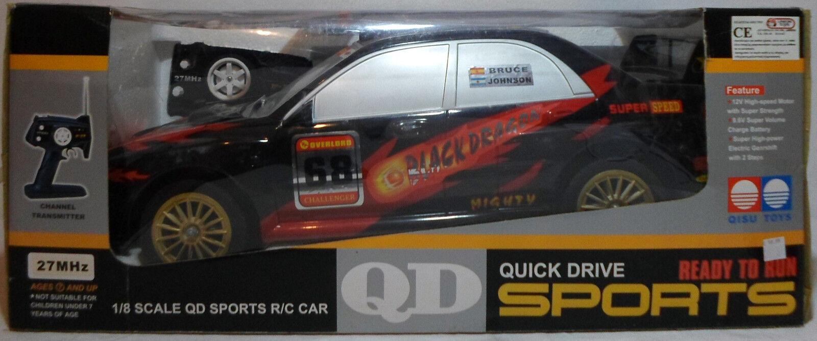 Qd Subaru Impreza enorme 1 8 De 20  Racer 27 Mhz Multi Función Rc no trabajo MIP