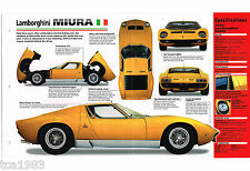 Lamborghini Miura Spec Sheetbrochurepamphletcatalog Fits Lamborghini Jalpa