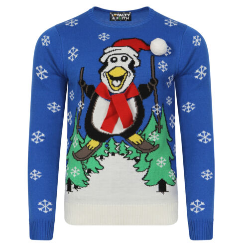 Loyalty /& Faith Adults Designer Christmas Jumpers Novelty Xmas 3D Knitted Top
