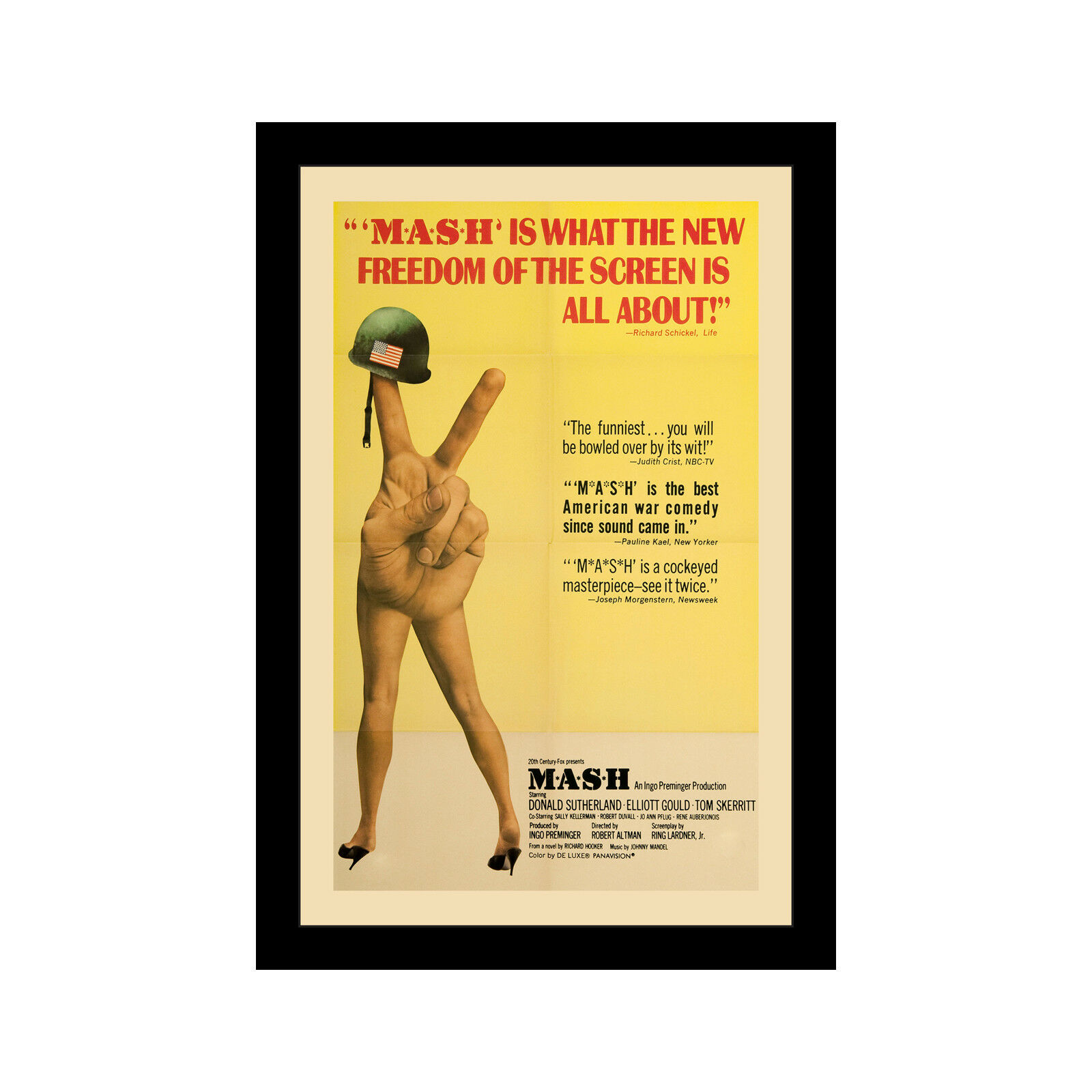 MASH - 11x17 Framed Movie affiche by Wallspace