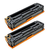 2pk Ce320a 128a Black Toner Cartridge For Hp Color Laserjet Pro Cp1525n Cp1525nw