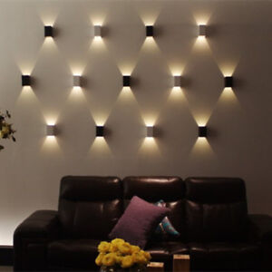 Image Is Loading Modern 3w Led Square Wall Lamp Hall Porch