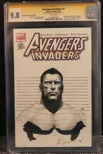 AVENGERS-INVADERS-1-CGC-SS-9-8-SIGNED-SKETCHED-BY-ADI-GRANOV-COLOSSUS-X-MEN