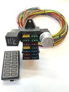 12 circuit 14 fuse universal street rod wiring harness 100 us rh ebay com Hot Rod Wiring Harness Engine Wiring Harness