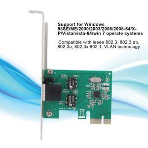 Rj-45-pci-ex1-Gigabit-Ethernet-Netzwerk-Adapter-LAN-Karte-1000-Mbps-for-Desktop