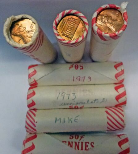 {BJSTAMPS} 1973-P BU LINCOLN CENTS SEALED WRAPPED UNSEARCHED Shotgun  Roll