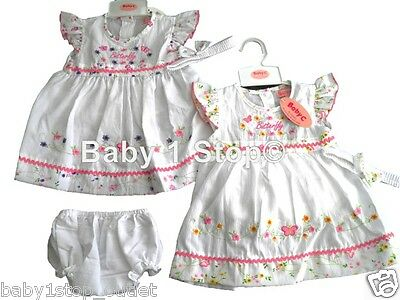 6-12m 12-18m 18-24 mth BNWT Baby girls summer smocked dress set Clothes outfit