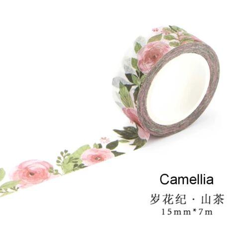 Japan Washi Tape Camellia 15mmx7m  MT0833