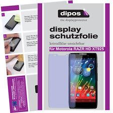 2x Motorola RAZR HD Schutzfolie klar Displayschutzfolie Folie unsichtbar Display