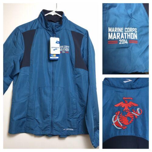 USMC Marine Corps Marathon 2014 Jacket Brooks Brand Running Official Jacket NWT