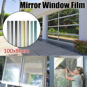 Privacy One Way Mirror Window Tint Film Solar Insulate Glass Reflection Home DIY