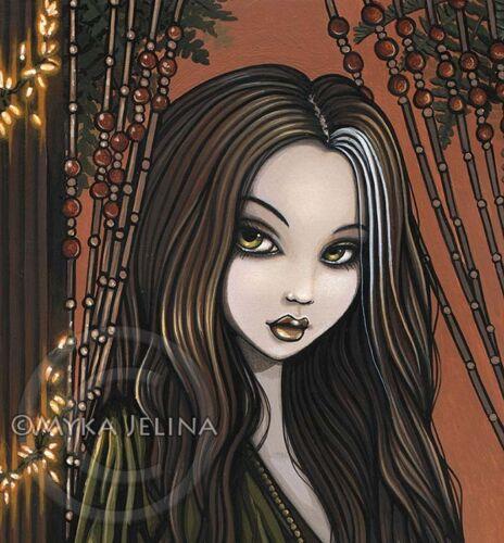 Bohemian Girl Fairy Coffee House Musical Cafe Rhianon 13x19 inch Print Signed