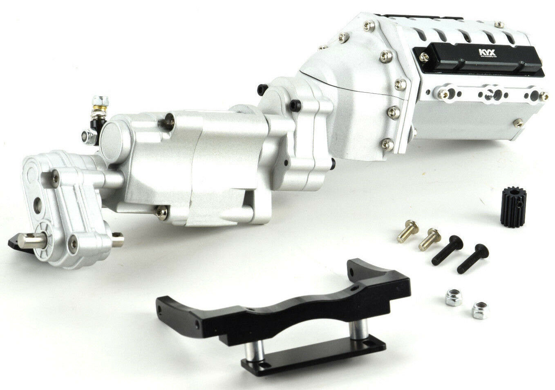 Rodamiento axial SCX10 Ii Escala CNC mecanizado de caja de cambios de 2 velocidades con escala V8 Cochecasa del Motor