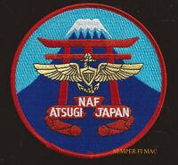 NAF ATSUGI PATCH NAS NAVAL AIR FACITITY PIN UP US NAVY MARINES PILOT WING JAPAN