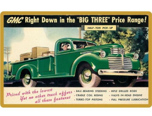 GMC Half Ton Pick Up Truck  NEW!  Refrigerator / Tool Box Magnet Man Cave