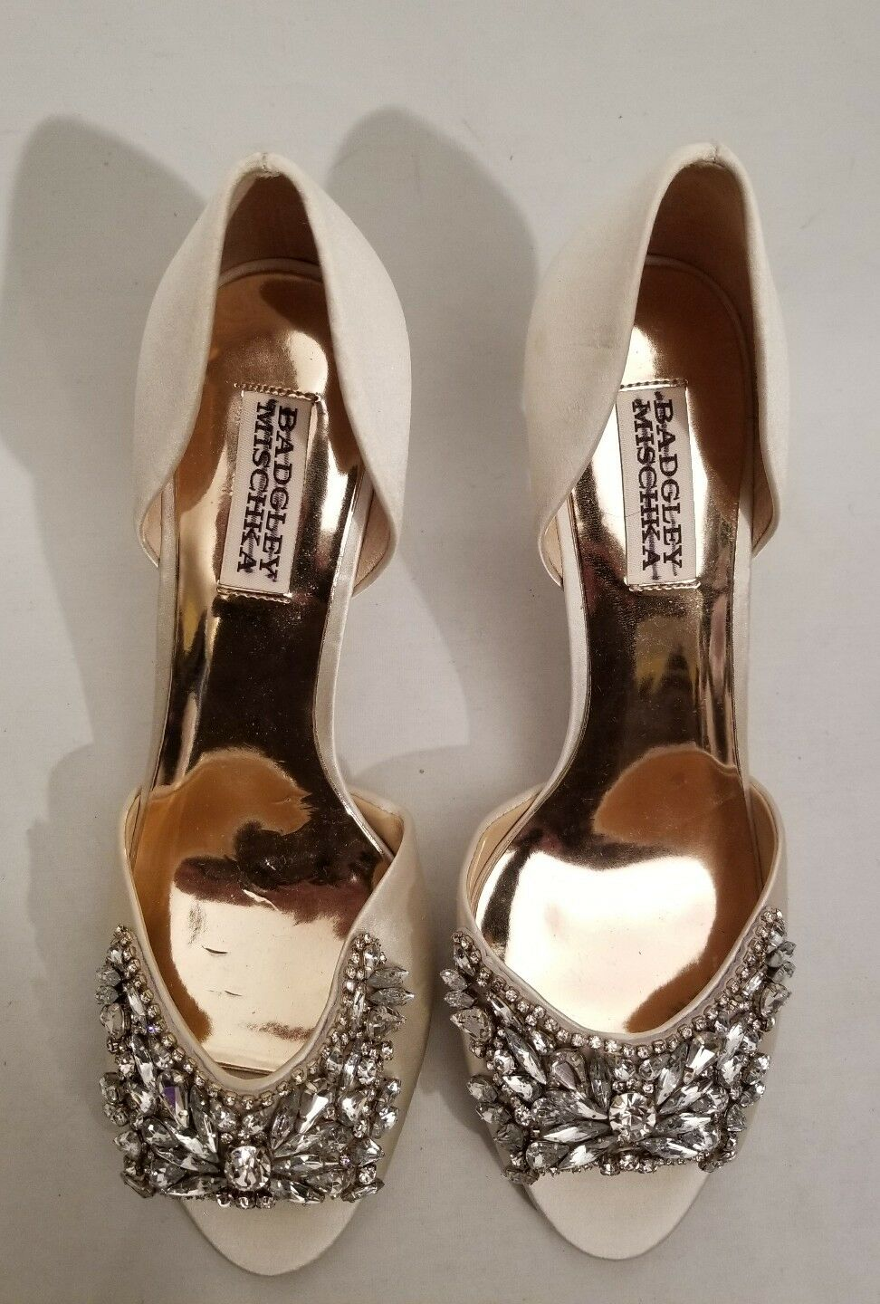 Badgley Mischka BHLDN Candance BHLDN Mischka Embellished Heels Ivory Evening Sz 7.5 8.5 9 New 0a4237