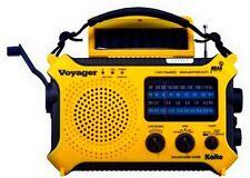 Hand Crank Radio Kaito KA500YEL SW AM FM Solar Powered Radio Camping Yellow