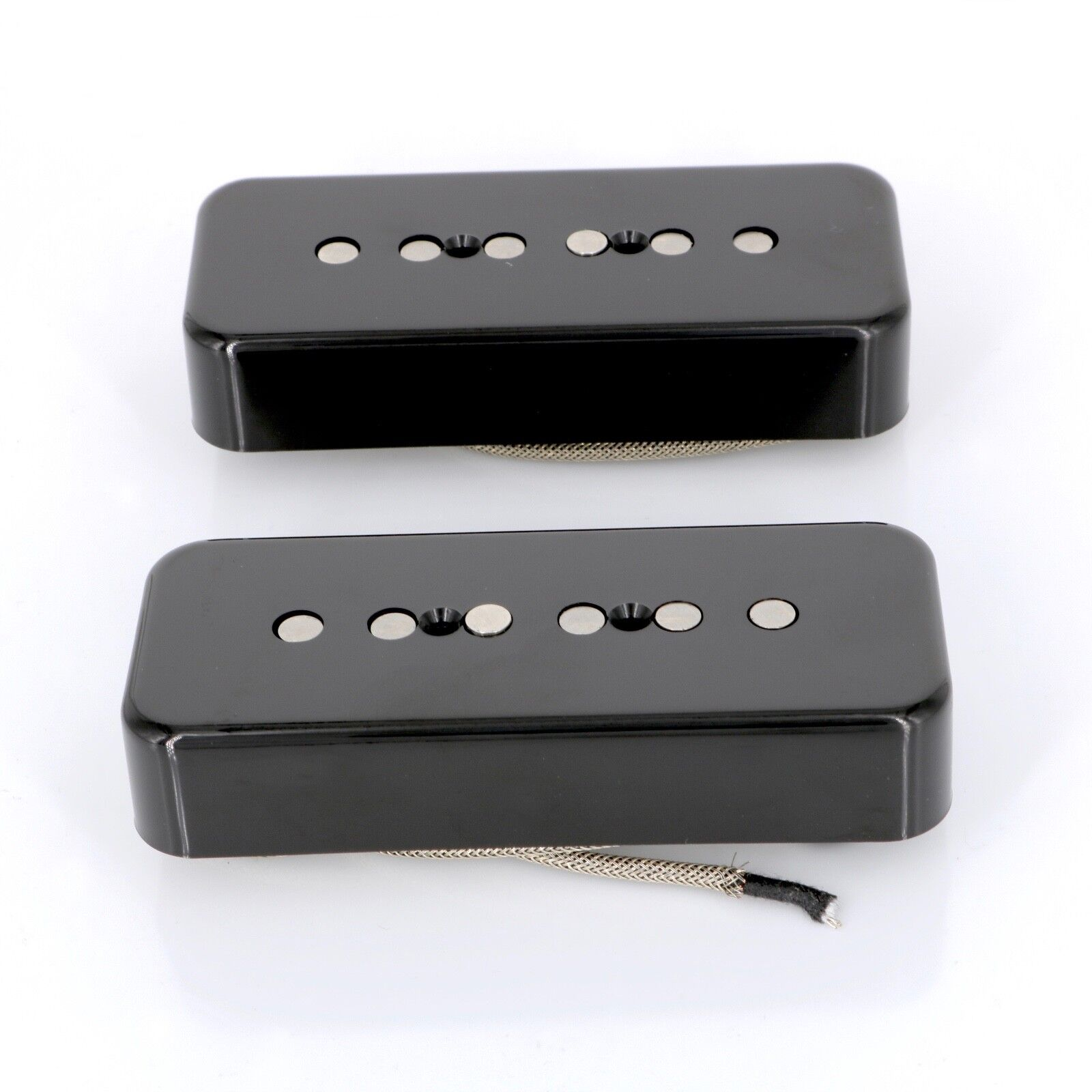 Lindy Fralin P90 Soapbar Pickups ALNICO Pole Pieces schwarz COVERS with -15% Neck