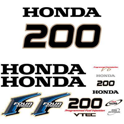 Honda 200 four stroke outboard decal aufkleber adesivo sticker set