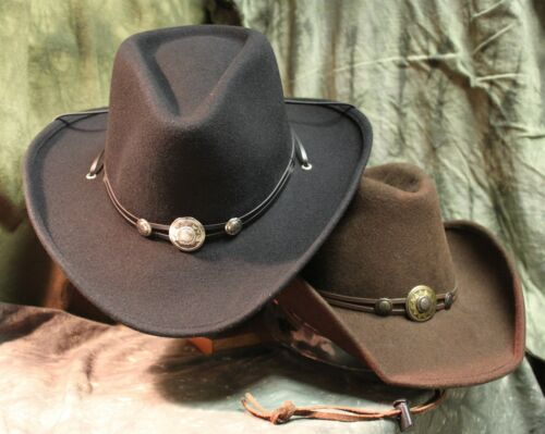 Westernhut Idaho in braun o S/&S formbar v Concha Hutband schwarz Cowboyhut