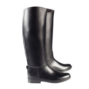 Horze-chester-horse-riding-tall-boots-black-rubber-Childs-Adult-sizes