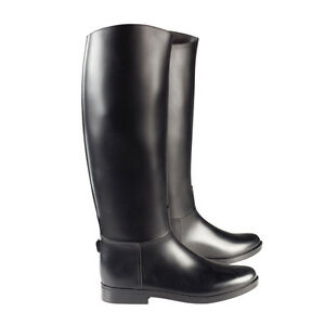 Horze-chester-horse-riding-long-tall-boots-black-rubber-Childs-amp-Adult-sizes