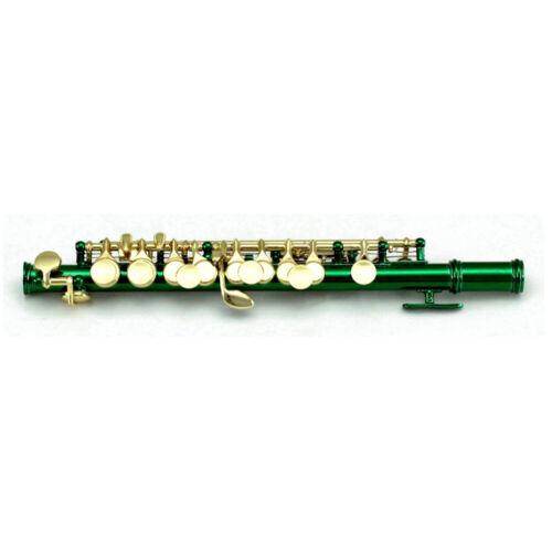 SKY Metallic Green Piccolo//Gold Keys w Case *Special* FINAL SALE