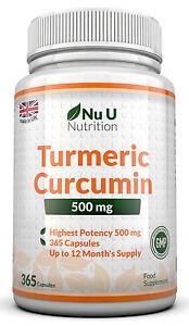 Curcuma-la-curcumina-365-capsule-ad-alta-resistenza-500mg-anti-infiammatori-sollievo-dal-dolore