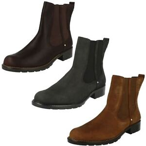 51a8be6e5f291 Clarks Ladies Orinoco Club Boot Brown Snuff or Black Leather D Fit ...