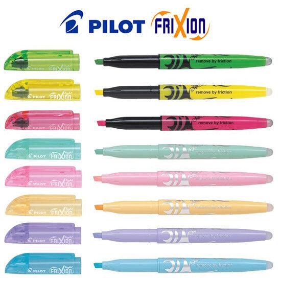 3 x Pilot FriXion Light Erasable Hi-lighter Pen Green SW-FL-G Highlighter