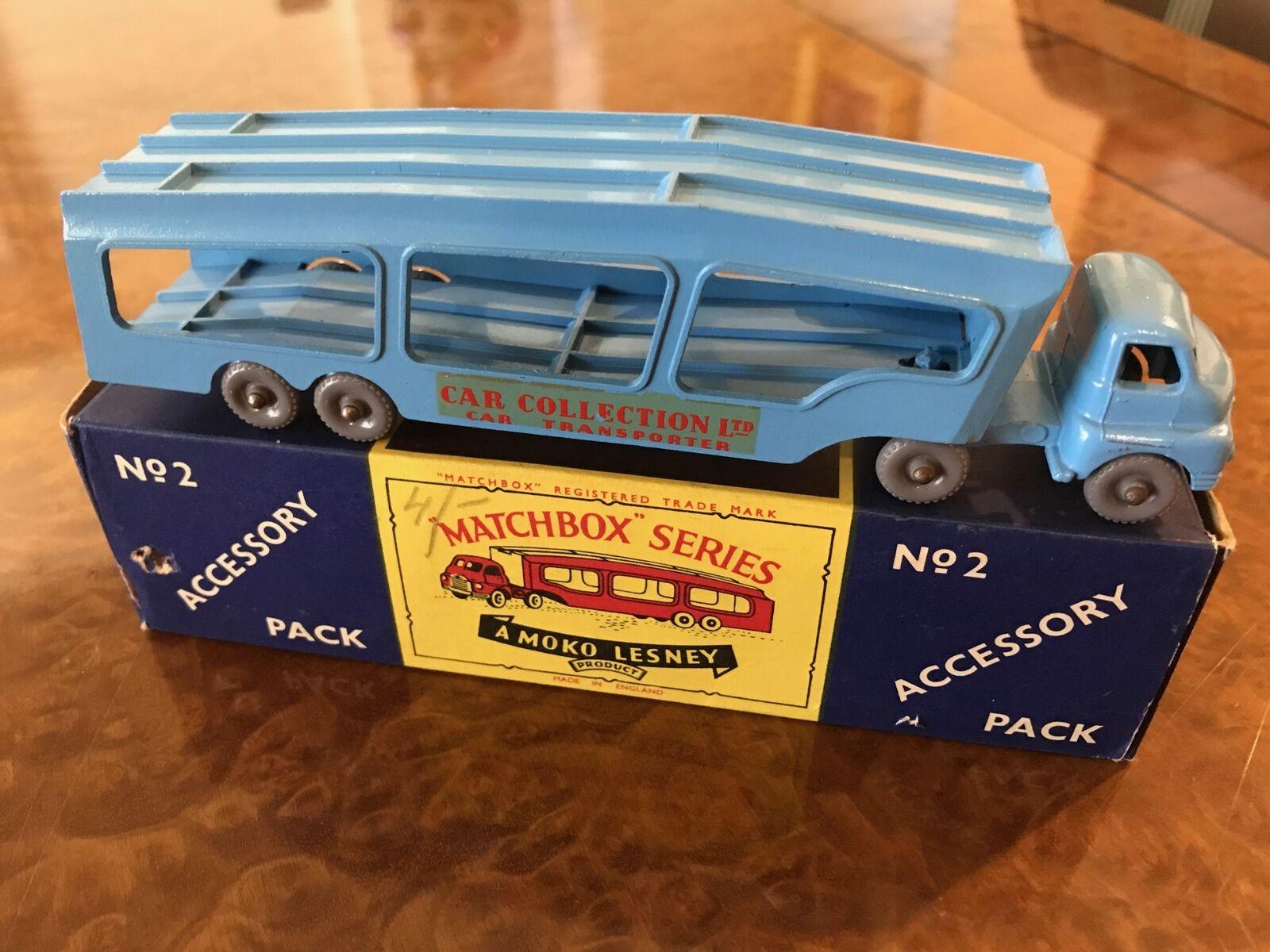 Vintage Matchbox Major   MIB   Bedford Car Collection Transporter   No. 2