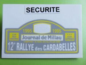 126 - Badge - Rallye Des Cardabelles - Championnat De France - Millau - Aveyron