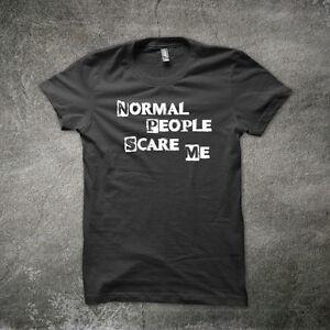 Normal-Personnes-Scare-Me-T-Shirt-Drole-T-Shirt-Geek-T-shirt-Qualite-Nerd-T-Shirts