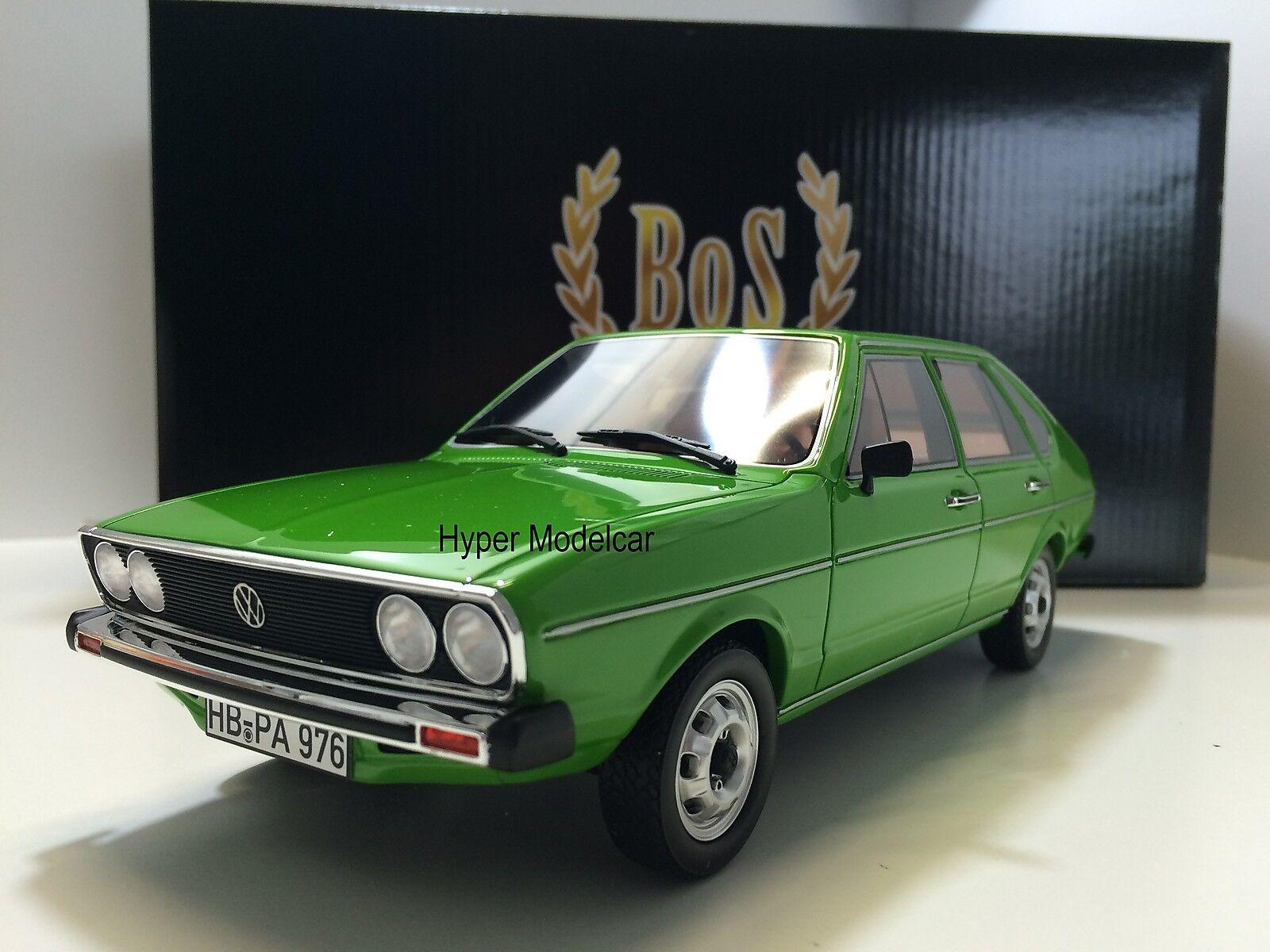 BoS Models 1 18 Volkswagen Passat TS 1973  vert Art. BOS010  remise élevée