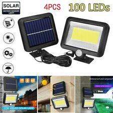 Kingavon 3W CREE Twin Solar Motion Sensor Security Light in Black Outdoor Home
