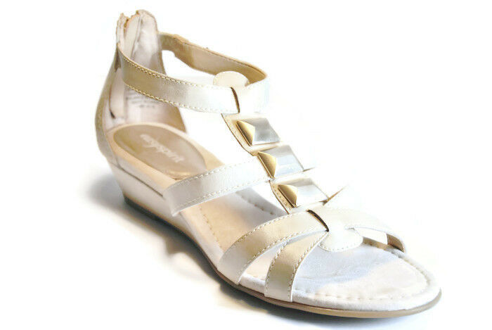 Easy Spirit Maralyn Mini Heel Sexy Wedge Strappy Sandals Womens Shoes,Natural,<wbr/>7M