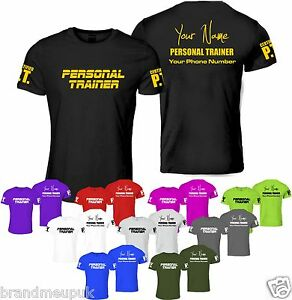 Personalised personal trainer t shirt clothing fitness gym for Custom personal trainer shirts