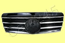 Front Center Grille CL Type Chrome Black Fits MERCEDES C-Class W202 1994-2000