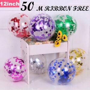 """Lot de 15 confettis ballons latex 12"""" décorations à L'hélium Fête D'anniversaire Mariage"""